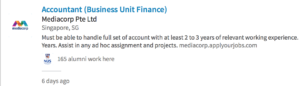 I search finance manager but I got this Accountant job in the search results.